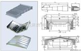 钢板式机床护板 钢板防护罩