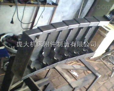 优质导轨防护罩宁波钢板防护罩上海机床拉筋式钢板罩