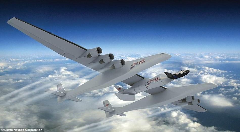 世界最大飞机即将建造完成:6台引擎机翼117米